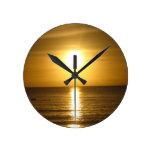 Puesta del sol de Tangalooma Relojes De Pared