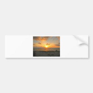 Puesta del sol de Tel Aviv Pegatina De Parachoque