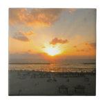 Puesta del sol de Tel Aviv Teja Ceramica