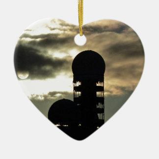 Puesta del sol de Teufelsberg, Berlín Adorno De Cerámica En Forma De Corazón
