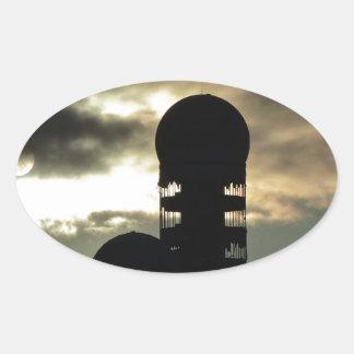 Puesta del sol de Teufelsberg, Berlín Calcomanía Ovaladas Personalizadas