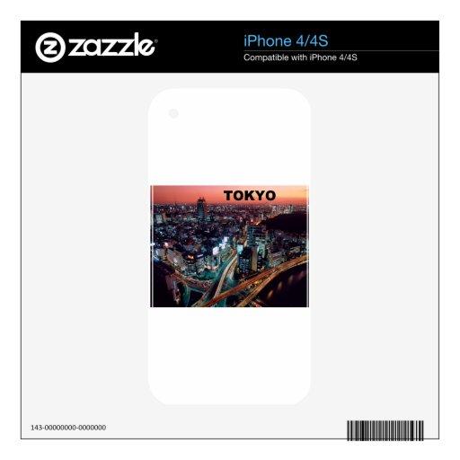 Puesta del sol de Tokio Japón (St.K) Skins Para eliPhone 4S