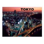 Puesta del sol de Tokio Japón (St.K) Postales