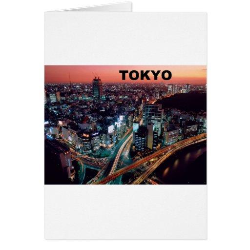 Puesta del sol de Tokio Japón (St.K) Tarjeta De Felicitación