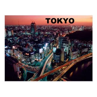 Puesta del sol de Tokio Japón (St.K) Postal