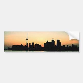 Puesta del sol de Toronto Pegatina De Parachoque