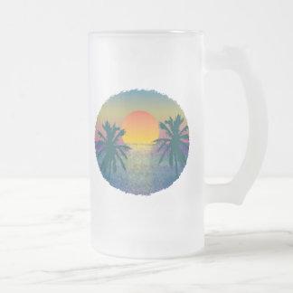 Puesta del sol de Tropicana Taza