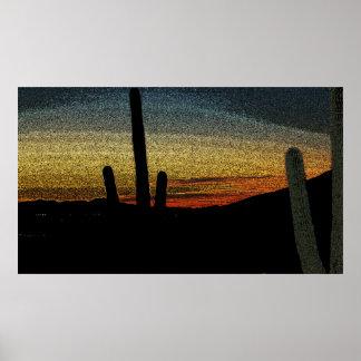 Puesta del sol de Tucson Posters