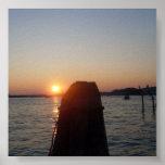 Puesta del sol de Venecia Poster