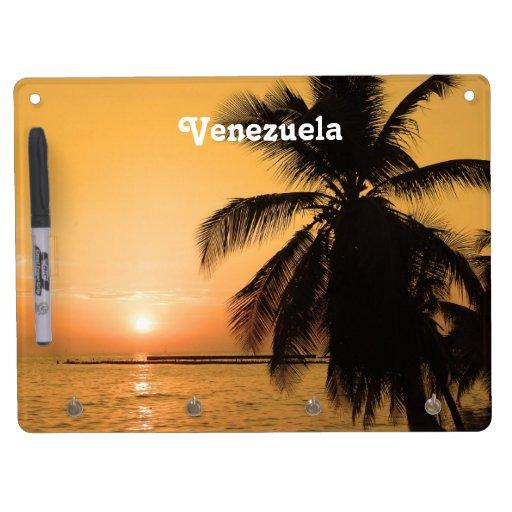 Puesta del sol de Venezuela Pizarras Blancas