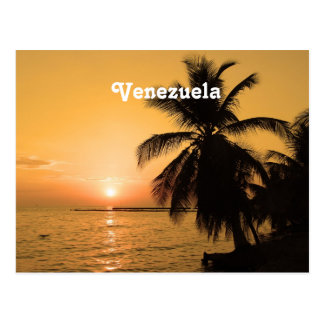 Puesta del sol de Venezuela Tarjeta Postal