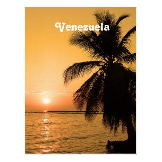 Puesta del sol de Venezuela Tarjetas Postales