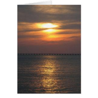 Puesta del sol de Virginia Beach Tarjetón