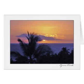 Puesta del sol de Waikoloa Tarjeta De Felicitación