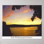 Puesta del sol de Wallenpaupack del lago Impresiones
