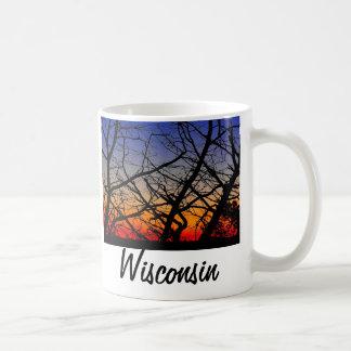 Puesta del sol de Wisconsin Taza De Café