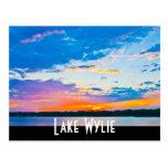 Puesta del sol de Wylie del lago Postal