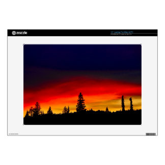 Puesta del sol de Yellowstone Portátil Calcomanía