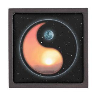 Puesta del sol de Ying Yang Cajas De Joyas De Calidad