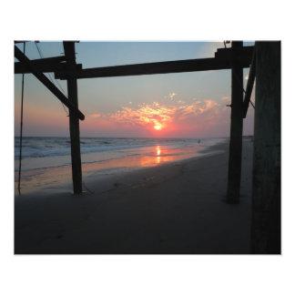 Puesta del sol debajo del embarcadero - isla del r arte con fotos