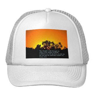 Puesta del sol del 23:4 del salmo gorra