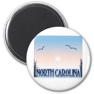Puesta del sol del aerógrafo de Carolina del Norte Imán Redondo 5 Cm