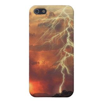 Puesta del sol del aligeramiento iPhone 5 carcasa