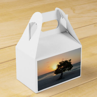 Puesta del sol del árbol de Divi Caja Para Regalos De Fiestas