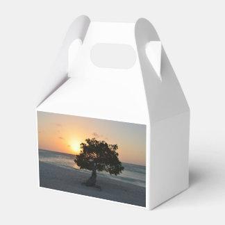 Puesta del sol del árbol de Divi Paquetes De Regalo Para Bodas