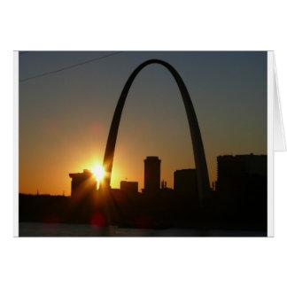 Puesta del sol del arco de St. Louis Tarjetas