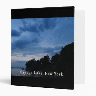 """Puesta del sol del azul del lago Cayuga Carpeta 1"""""""