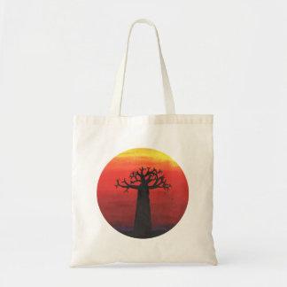 Puesta del sol del baobab