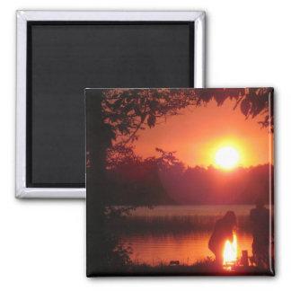 puesta del sol del bemidji iman de nevera