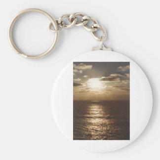 Puesta del sol del cabo Arago en la costa de Orego Llavero