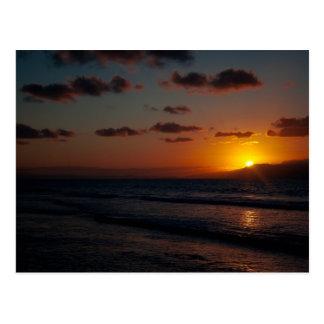 Puesta del sol del Caribe 01 Postal