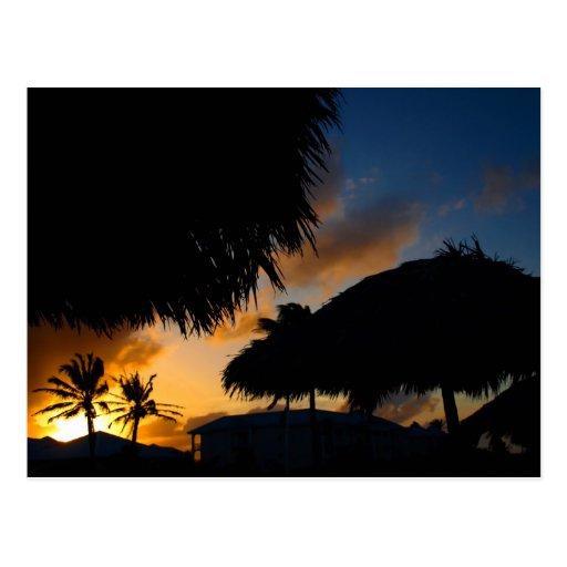 Puesta del sol del Caribe 2 Postales