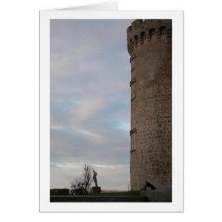 Puesta del sol del castillo de Kilkenny espacio e Tarjetas