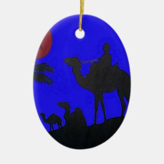 Puesta del sol del cielo azul del safari de Hakuna Ornamentos Para Reyes Magos