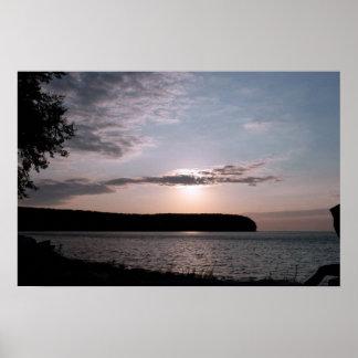Puesta del sol del condado de Door en Wisconsin Poster