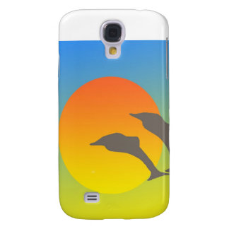 Puesta del sol del delfín