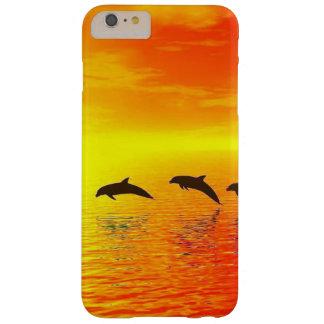 Puesta del sol del delfín funda barely there iPhone 6 plus