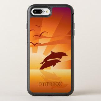 Puesta del sol del delfín funda OtterBox symmetry para iPhone 7 plus