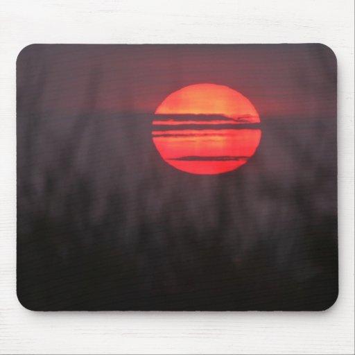 Puesta del sol del desierto, Arizona Alfombrillas De Ratones