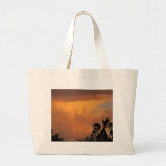 Puesta del sol del desierto bolsa lienzo