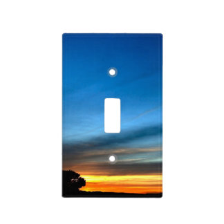 Puesta del sol del desierto cerca de la ruta histó tapas para interruptores