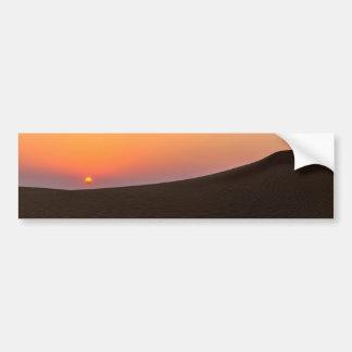 Puesta del sol del desierto en Dubai Pegatina Para Coche