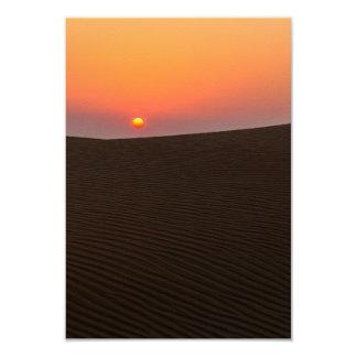 """Puesta del sol del desierto en Dubai Invitación 3.5"""" X 5"""""""