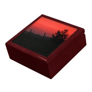 Puesta del sol del Día de la Independencia Cajas De Recuerdo