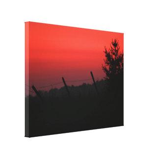 Puesta del sol del Día de la Independencia Impresiones De Lienzo