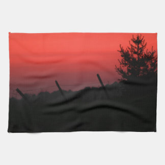 Puesta del sol del Día de la Independencia Toallas